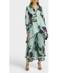F.R.S For Restless Sleepers Ceo Floral-print Silk Pants - Green