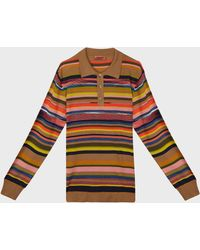 Missoni Striped Polo Shirt - Multicolour