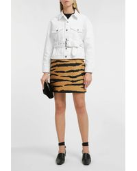 Proenza Schouler Belted Denim Jacket - Multicolor