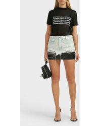 Alexander Wang Layered Denim Mini Skirt - Multicolour