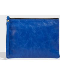 Isabel Marant - Netah Leather Pouch, Size Os, Women, Blue - Lyst