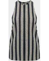 Three Graces London Chiara Striped Sleeveless Top - Black