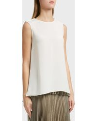 Adam Lippes - Pleated Back Silk Tunic, Size Us6, Women, Ivory - Lyst