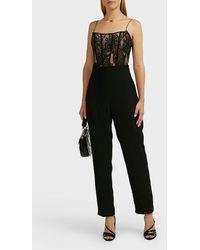 Rasario Lace Jumpsuit - Black