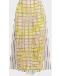 Rosie Assoulin Party In The Back Patterned Skirt - Yellow
