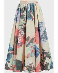 ROKSANDA Maia Printed Crepe A-line Skirt - Multicolor