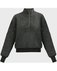 Wildfox Soto Zip-up Fleece Jumper - Grey