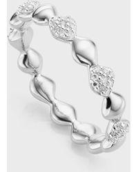 Monica Vinader Nura Teardrop Diamond Eternity Ring - Metallic