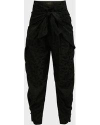 Isabel Marant Velasta High-rise Satin Trousers - Black