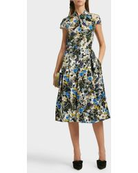 Erdem Fianna Floral-print Silk Top - Multicolor