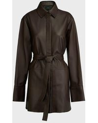JOSEPH Jason Belted Nappa Leather Jacket - Black