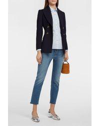 M.i.h Jeans - Mini Oversize Striped Cotton-seersucker Shirt - Lyst