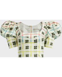 Silvia Tcherassi Brett Checked Cotton-blend Crop Top - Multicolour