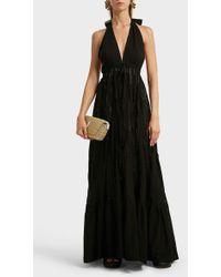 Kalita Rooftop Runway Cotton Halterneck Maxi Dress - Black