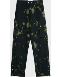 Filling Pieces Tie-dye Cotton Cargo Trousers - Green