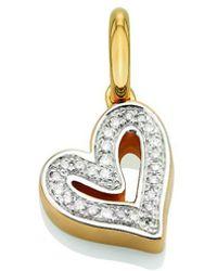 Monica Vinader - Gold Vermeil Alphabet Heart Pendant, Os - Lyst
