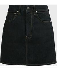 Helmut Lang High-rise Denim Mini Skirt - Black
