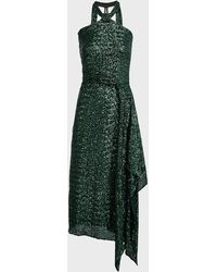 Roland Mouret Halse Sequinned Draped Gown - Green