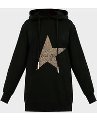 Golden Goose Deluxe Brand Hikaru Star-embroidered Hoodie - Black
