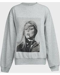 Anine Bing Ramona Graphic-print Sweater - Gray