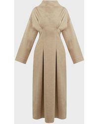 ROKSANDA Marea Cowl-neck Wool Maxi Dress - Natural
