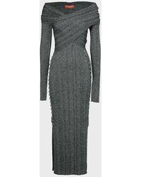 Altuzarra Mattie Knit Off-the-shoulder Dress - Grey