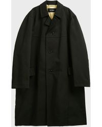 Raf Simons Cotton Trench Coat - Black