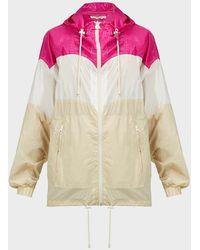 Étoile Isabel Marant Kyriel Colour-block Zip-up Jacket - Natural
