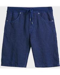 120% Lino - 120% Linen Bermuda Shorts - Lyst