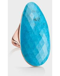 Monica Vinader Turquoise And 18k Rose Gold Vermeil Nura Cocktail Ring - Blue