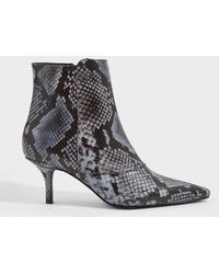 Anine Bing Ava Python-print Leather Boots - Multicolor