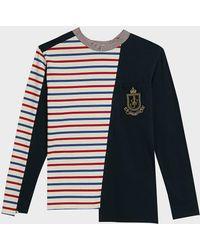 JW Anderson Breton Panelled Cotton Shirt - Blue