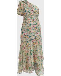 AMUR - Laura One-shoulder Floral Dress - Lyst