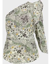 Étoile Isabel Marant Carina Ruffled One-sleeve Top - Multicolour