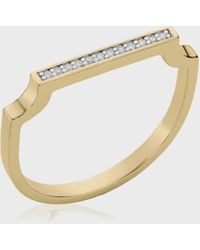 Monica Vinader Signature Thin Diamond Ring - Metallic