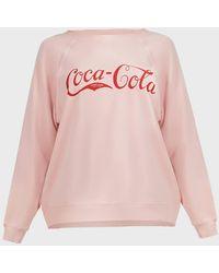 Wildfox Vintage Coca-cola Sommers Jumper - Pink