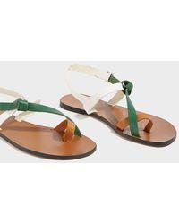 Atp Atelier - Arona Leather Sandals, Size It36, Women - Lyst