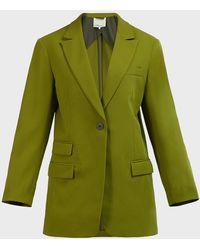 3.1 Phillip Lim Straight-cut Wool-crepe Blazer - Green