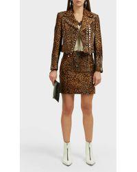 Alexander Wang Leopard-print Mini Skirt - Brown