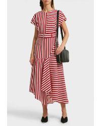 Rachel Comey - Steady Asymmetric Striped Cotton Midi Dress - Lyst