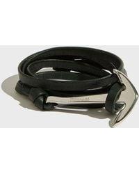 Miansai - Anchor On Leather Bracelet, Size Os, Men, Green - Lyst