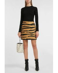 Proenza Schouler Tiger-print Wool And Silk-blend Jacquard Mini Skirt - Multicolor