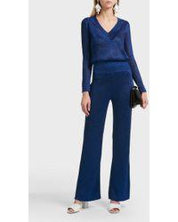 Missoni Slim Fit Lurex Trousers - Blue