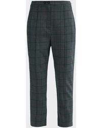 Jonathan Simkhai Glen Plaid Wool-blend Trousers - Blue