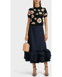 Molly Goddard Nora Ruffle Cotton-poplin Skirt - Blue