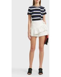 3.1 Phillip Lim Ruffle Apron Cotton-blend Shorts - White