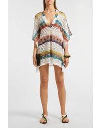 Missoni Crochet-knit Kaftan - White