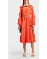 ROKSANDA Houma Cuffed Sleeve Silk Dress - Multicolor