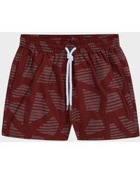 Frescobol Carioca Modernist Jacquard Shorts - Red