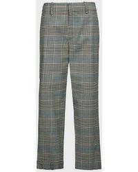 Monse Plaid Upside-down Slim-leg Trousers - Multicolour